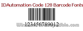 IDAutomation Code 128 Barcode Fonts 14 08 Free download